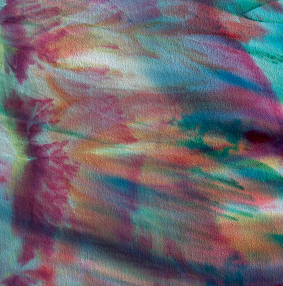 freeform dyed fabric