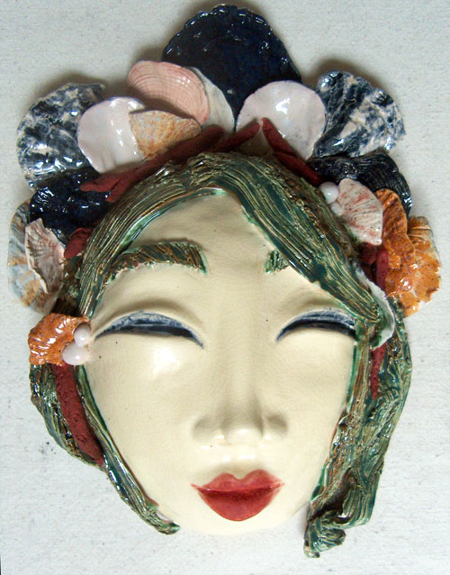 fired ceramic face mask