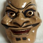 ceramic Noh mask