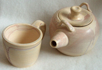 ceramic teapot and cup