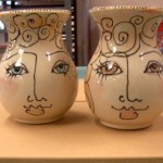 ceramic face vases