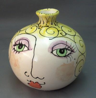 ceramic face vase
