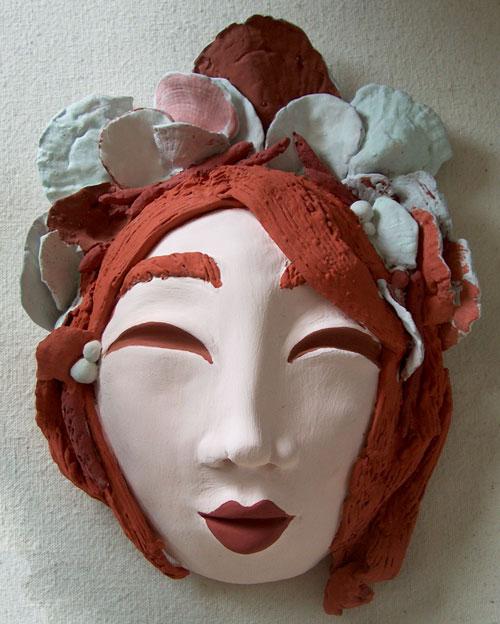 ceramic mask glaze before firing
