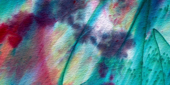 dyed freeform fabric