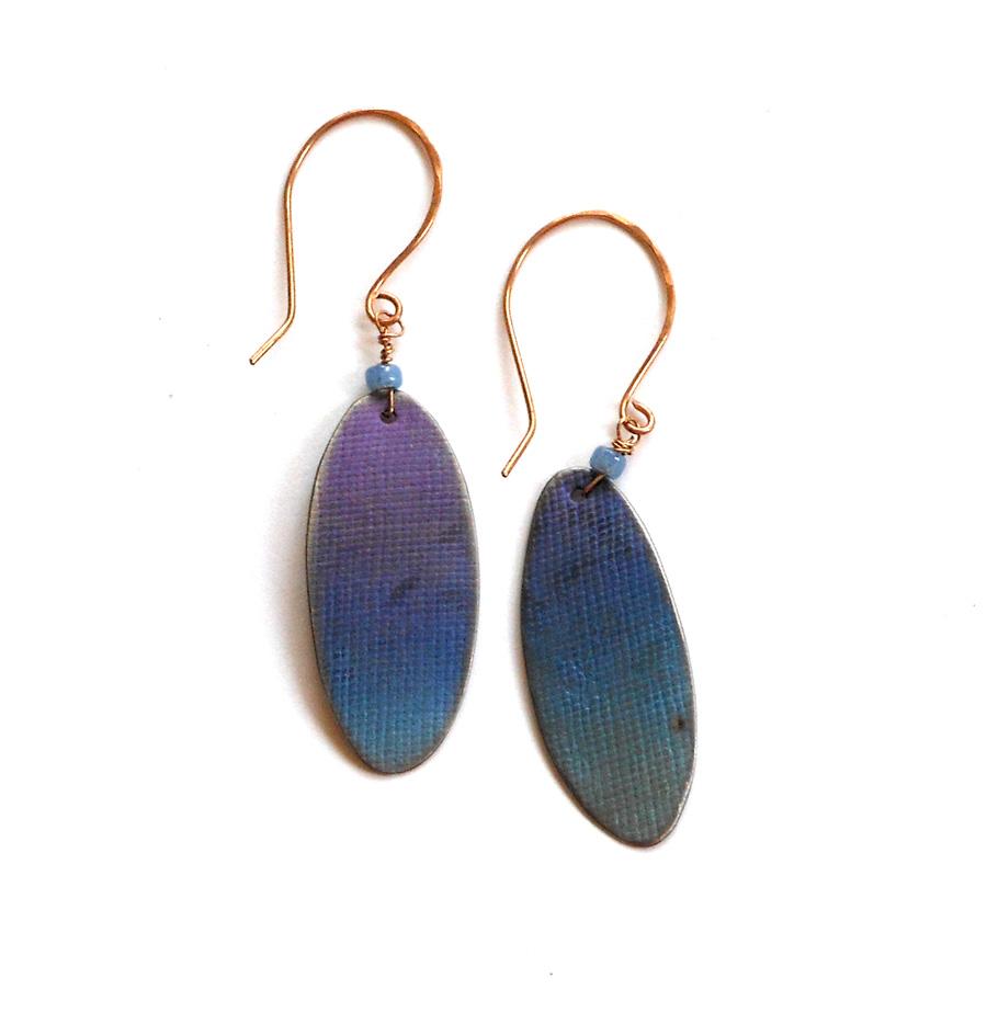 anodized titanium earrings