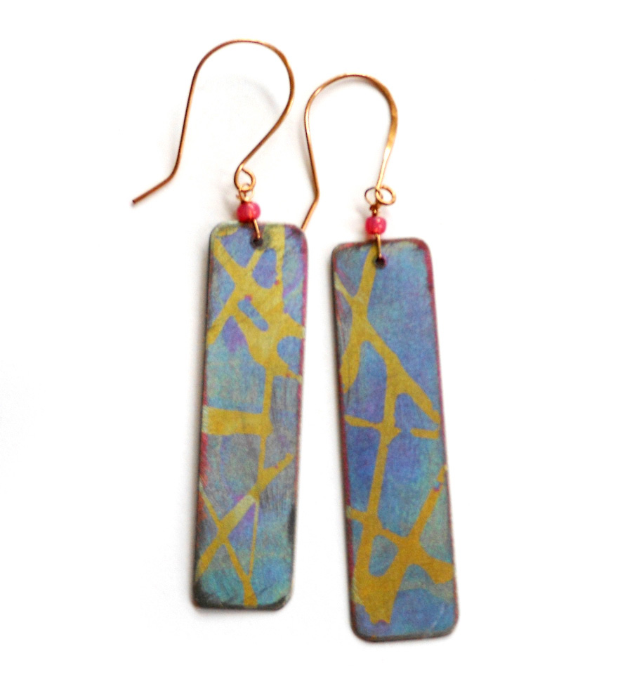 anodized titanium earrings