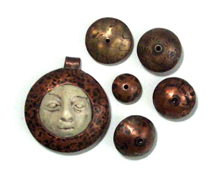 metal and polymer beads and pendant