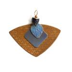 etched bronze anodized titanium pendant