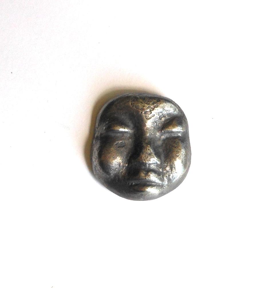 pmc silver over ceramic face