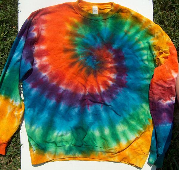 spiral tie dyed sweatshirt aka shibori