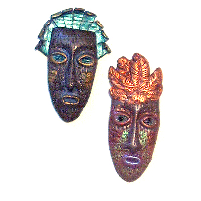 miniature polymer clay mask