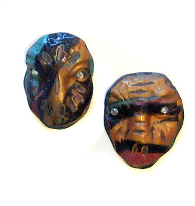 Laurel Steven miniature polymer clay mask