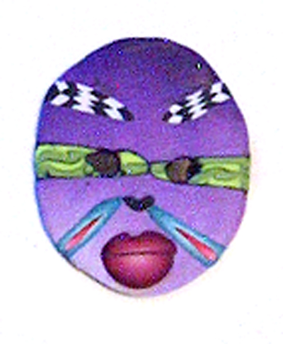 Alice Stroppel miniature polymer clay mask