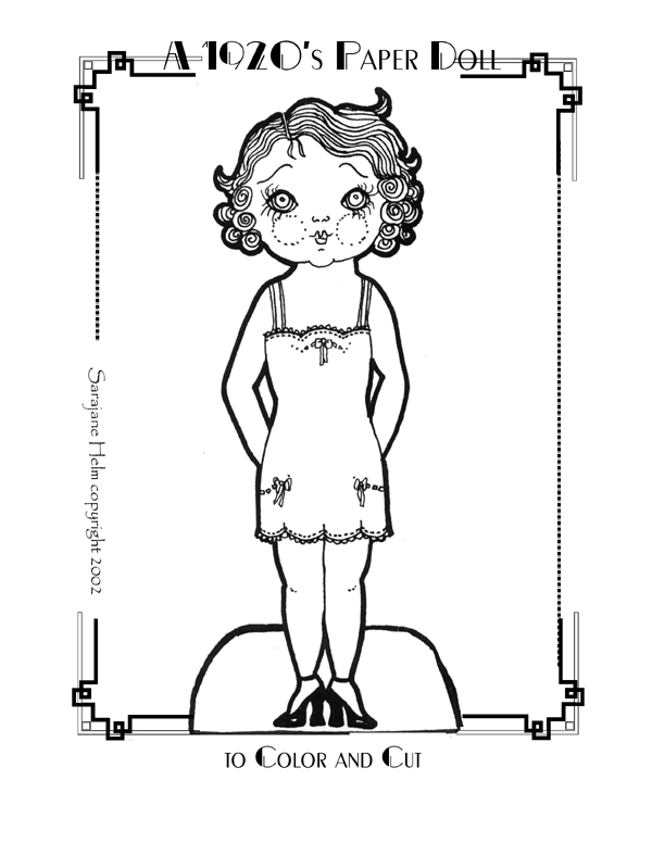 1920's paper doll