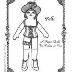 a dancehall girl paper doll