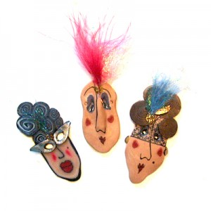 polymer clay miniature masks
