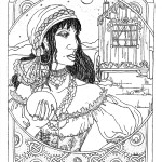 gypsy drawing coloring book