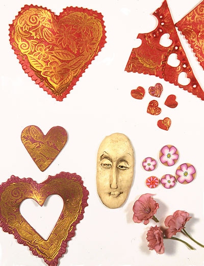polymer clay valentine parts