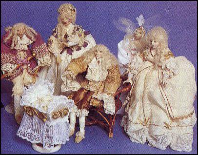 Sleeping Beauty--polymer clay dolls