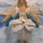 painted angel cloth doll chorus gir