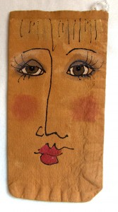 painted face bag