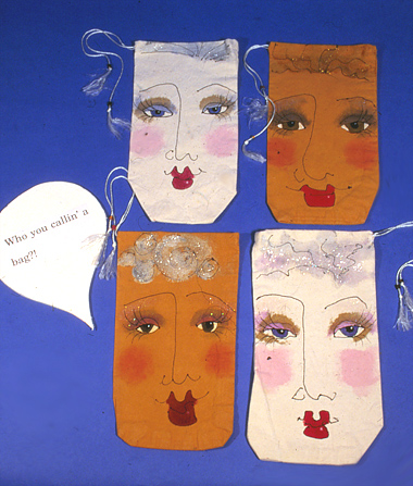painted face bags