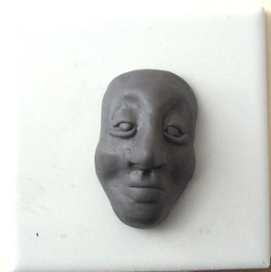 polymer clay face sculpt