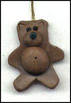 make a bear ornament with polymer clay