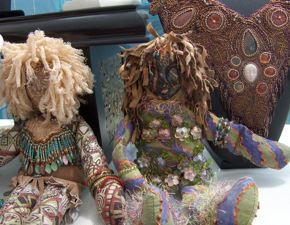 beaded spirit doll s and collar Laura Sandoval