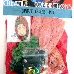 spirit doll kit with polymer clay face and dyed fabrics