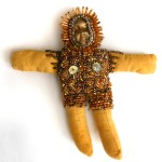 beaded spirit doll bronze cast face Sarajane Helm