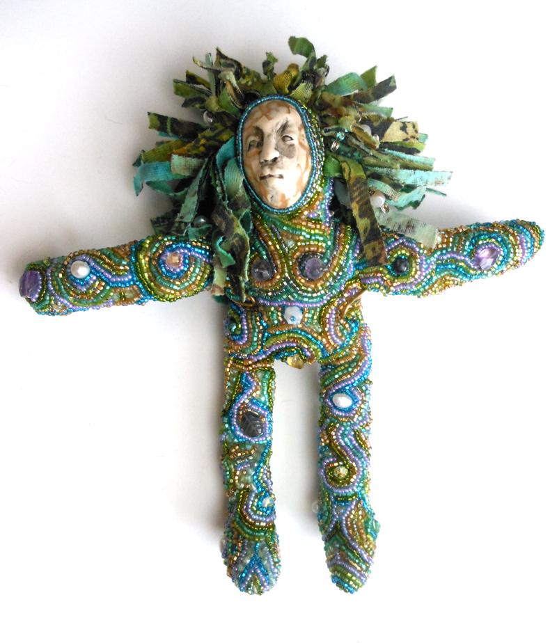 beaded spirit doll Laura Sandoval
