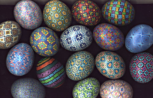 polymer clay eggs by Carol Simmons