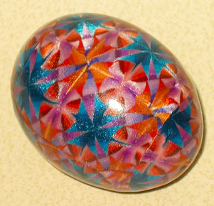 polymer clay covered egg
