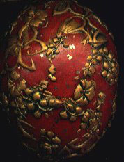 polymer clay filigree egg