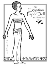 Egyptian paper doll