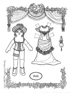 Belle a paper doll