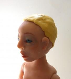 2 part silicon mold for wig cap