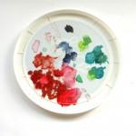 acrylic paint palette