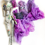 dyed silk and ball joint doll parts