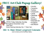 FRCC Art Club popup gallery ad graphic