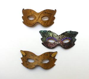 miniature polymer clay masks
