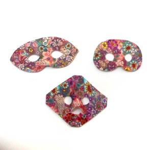 Leigh Ross miniature polymer clay masks