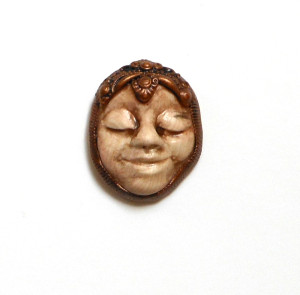 Sarajane Helm miniature polymer clay mask