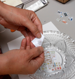 make transfers with liquid polymer clay