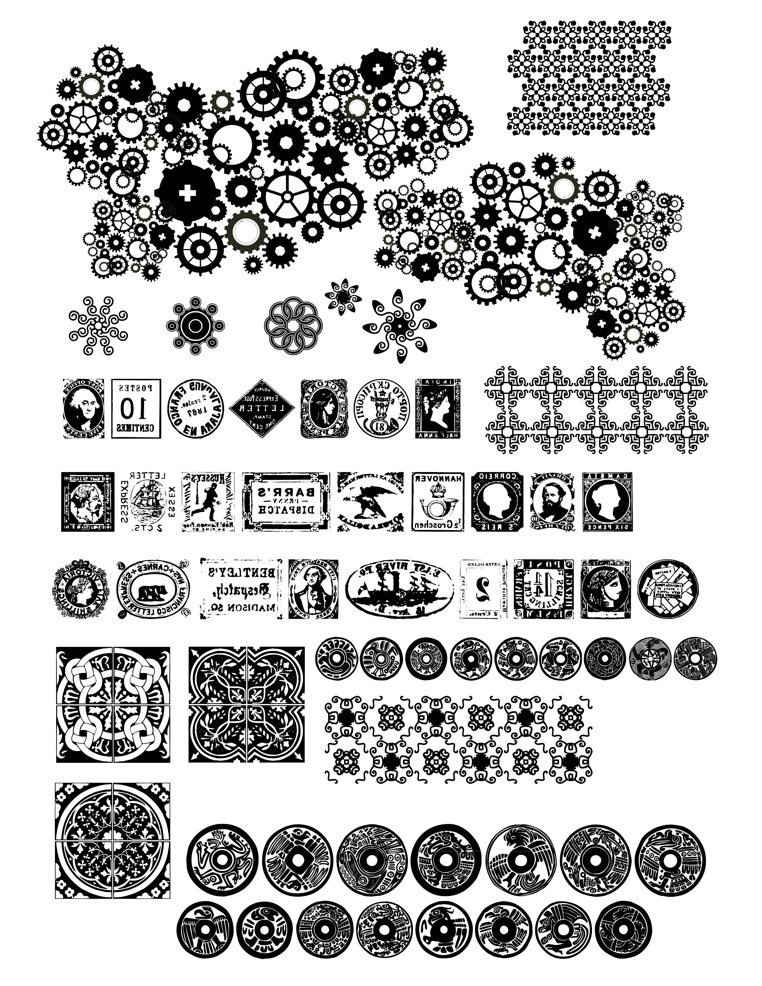 Dingbat Fonts | Sarajane's Polyclay Gallery