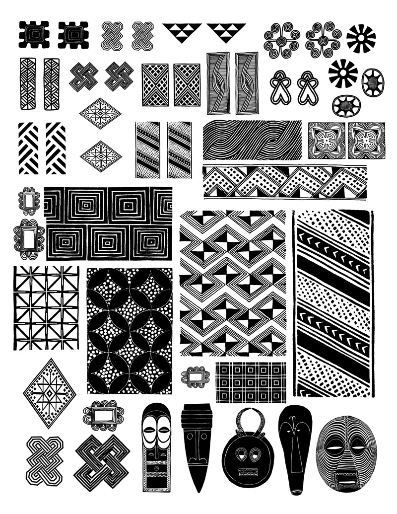 images from the Dover book African Designs